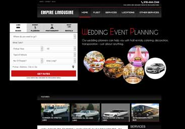 empire limousine website developer